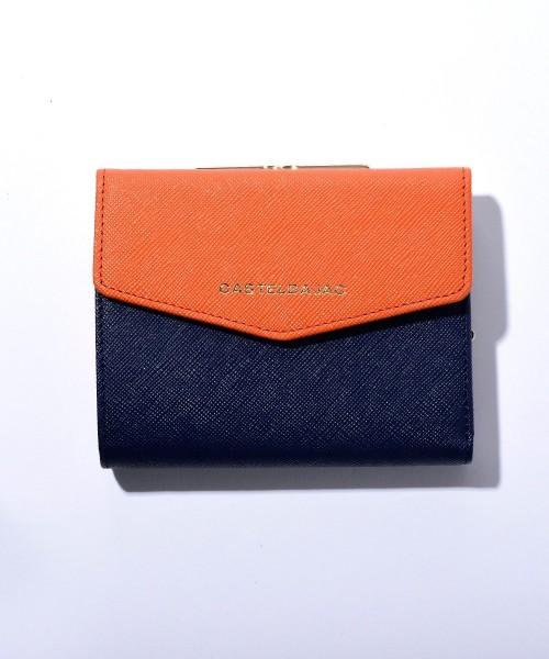 quality design 687f8 3e5a9 がま口 二つ折り財布 カード段13|CASTELBAJAC|No.80602|IKETEI ...